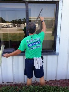professional office building window cleaning washing