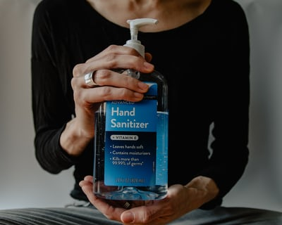 Hand sanitizer for employees